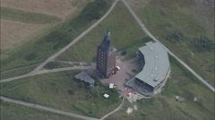 AERIAL Germany-Wangerooge Island Stock Footage