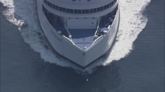 AERIAL Germany-Ferry On Way To Denmark Stock Footage