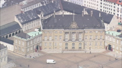 AERIAL Denmark-Copenhagen - Amelienborg Stock Footage
