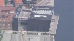 AERIAL Denmark-Copenhagen - Det Kongelige Bibliotek Stock Footage