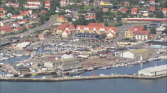 AERIAL Denmark-Rorvig To Hundested Stock Footage