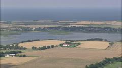AERIAL Denmark-Reerso To Mullerup Havn Stock Footage