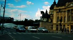BUCHAREST, ROMANIA : Central University Library, Tilt Stock Footage