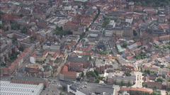 AERIAL Denmark-Odense Stock Footage