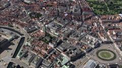 AERIAL Denmark-Copenhagen - Round Tower Stock Footage