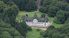AERIAL Denmark-Copenhagen - Charlottenlund Castle Stock Footage