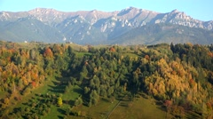 Stock Video Footage of Colorful trees and mountains, begin of autumn