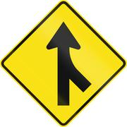 Merge Ahead In Australia - stock illustration