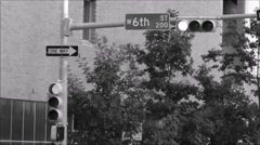 6th street sign in downtown Austin, Texas. Stock Footage