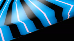 Blue line motion Stock Footage