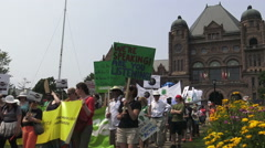 March for Jobs, Justice and the Climate, Toronto July 2015 Stock Footage