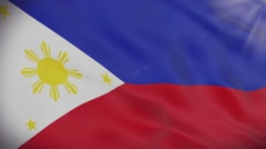 Flag of Philippines Stock Footage