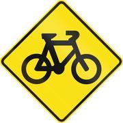 Bicycle Crossing In Australia Stock Illustration