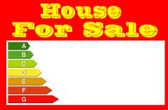 Sign for real estate agents. House for sale. Stock Illustration