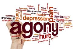 Agony word cloud - stock photo