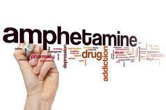 Amphetamine word cloud Stock Photos