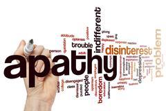 Apathy word cloud - stock photo