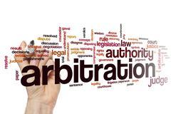 Arbitration word cloud Stock Photos