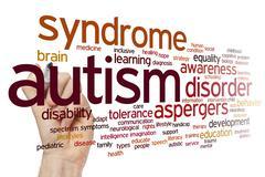 Autism word cloud - stock photo