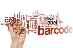 Barcode word cloud - stock photo