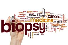 Biopsy word cloud Stock Photos
