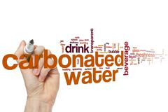 Carbonated water word cloud - stock photo