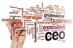 CEO word cloud Stock Photos