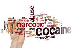Cocaine word cloud Stock Photos