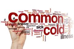 Common cold word cloud Stock Photos