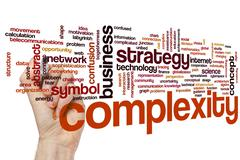 Complexity word cloud Stock Photos