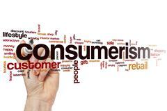 Consumerism word cloud Stock Photos