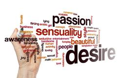 Desire word cloud concept Stock Photos