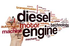 Diesel engine word cloud - stock photo
