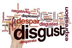 Disgust word cloud - stock photo