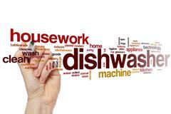 Dishwasher word cloud - stock photo