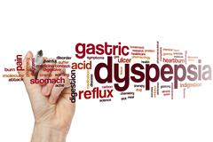 Dyspepsia word cloud Stock Photos