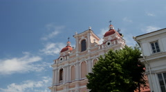 Time lapse of the Church of St. Casimir in Vilnius Lithuania Stock Footage