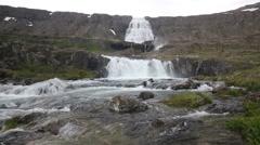 Scenic waterfall, Dynjandi Stock Footage