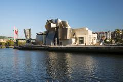 Stock Photo of Guggenheim Museum Bilbao by Frank Gehry Nervion River Bilbao Basque Country