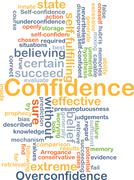 Confidence background concept Piirros