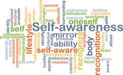 Self-awareness background concept - stock illustration