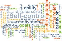 Self-control background concept - stock illustration