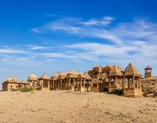 Bada Bagh, Jaisalmer, Rajasthan, India - stock photo