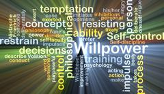 Willpower background concept glowing Stock Illustration