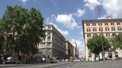 Street at Santa Maria Maggiore church Stock Footage