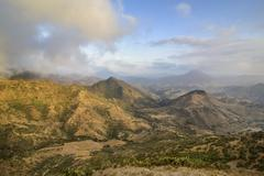 View over the mountains along the road from Massawa to Asmarra Eritrea Africa Stock Photos