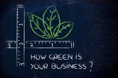 How green is your business? Stock Illustration