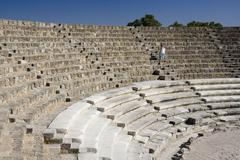 Amphitheater at Salamis - Turkish Cyprus Stock Photos