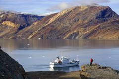 Blomsterbugten - Franz Joseph Fjord - Greenland Stock Photos