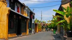 Hoi An ancient city street view. 4K resolution . Stock Footage